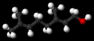 Geraniol-molecule